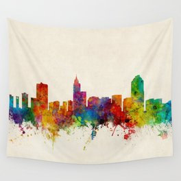 Raleigh North Carolina Skyline Wall Tapestry
