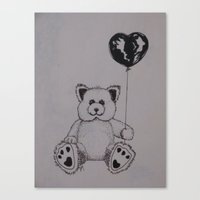 baloon Canvas Prints featuring Baloon Bear by Joy Reyes