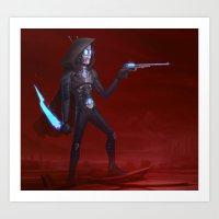 Martian Wasteland Gunslinger Art Print