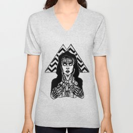 She's Filled with Secrets - Laura Palmer - Twin Peaks Unisex V-Neck