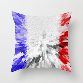 Flag of France Throw Pillow