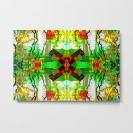Out of the Nightmare : Abstract Jungle Metal Print