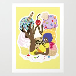 Ice Cream Mountain Art Print
