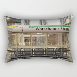Berlin U-Bahn Memories - Warschauer Straße Rectangular Pillow