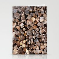 pocket fuel Stationery Cards featuring WOODEN FUEL by Connor Merrick