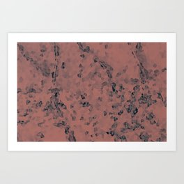 Stone coral - light Art Print