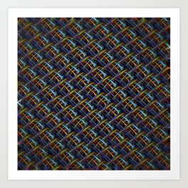 Fluro Fiber Art Print