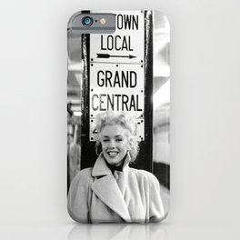 Mari-lyn Monroe Grand Central , Gift, Home Decor, photography, American icon, actress, Vintage poster, print, iPhone Case