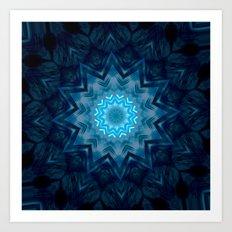 Ice Star  Art Print