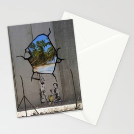 Bansky Wall Graffiti Stationery Cards