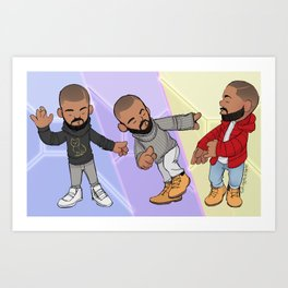 You Know When That Hotline Bling Art Print