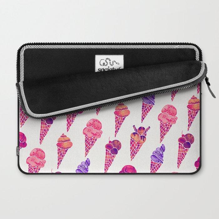 Ice Cream Cones – Fuchsia Palette Laptop Sleeve