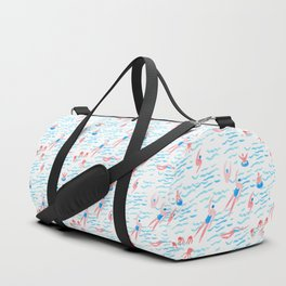 swimmers in the sea pattern Duffle Bag