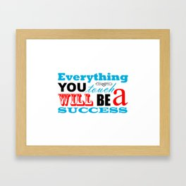 Fortune Cookie - on success Framed Art Print