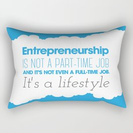 Entrepreneurship Quote Rectangular Pillow