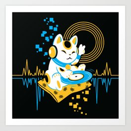 DJ Maneki Art Print