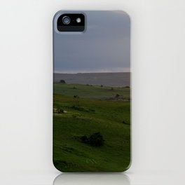 Rolling hills at the Wild Coast iPhone Case