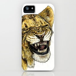 LAUGHING LION iPhone Case