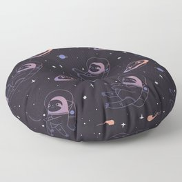 Astro sloth and planet sloth pattern Floor Pillow