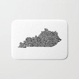Typographic Kentucky Bath Mat