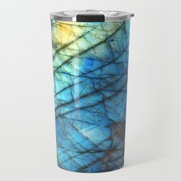 Royal Labradorite Crystal Agate Gemstone Print Travel Mug