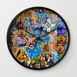 Gold, Glitter, Gems and Sparkles Wall Clock