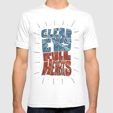 Clear Eyes, Full Hearts... MEDIUM White Mens Fitted Tee