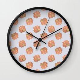 Tulip_Floral_Hydrangea repeat pattern Wall Clock