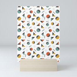 geometry slicing shapes Mini Art Print