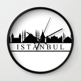 skyline istanbul Wall Clock