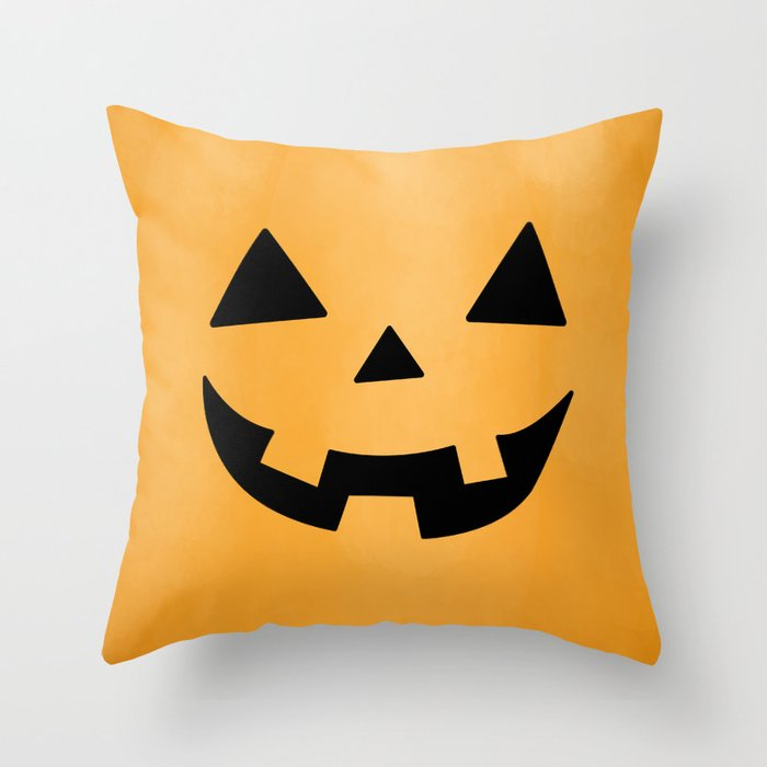 Happy Jack-O-Lantern Throw Pillow