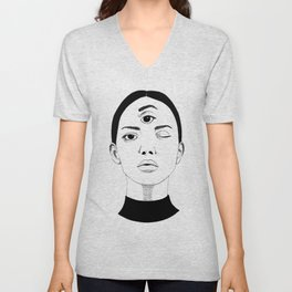 the woman with the third eye Unisex V-Neck