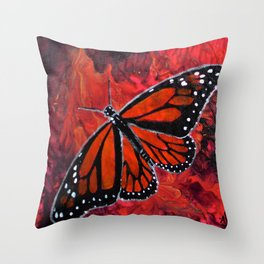 Winged Fire Throw Pillow