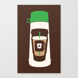 The Coffee Stacker Canvas Print
