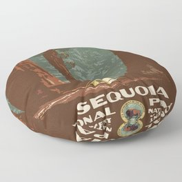 Vintage poster - Sequoia National ParkX Floor Pillow