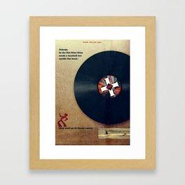 Punk Quotes Poster Serie / Henry Rollins Said : KKK Framed Art Print