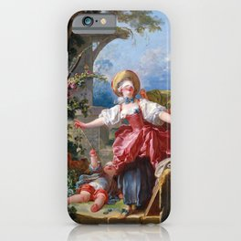 Jean-Honore Fragonard - Blind-Man's Buff iPhone Case