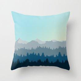 Face This Mountain (No Text) Throw Pillow