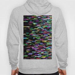 rainbow bars zooming across black space Hoody
