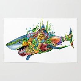Colored Sea Shark Rug