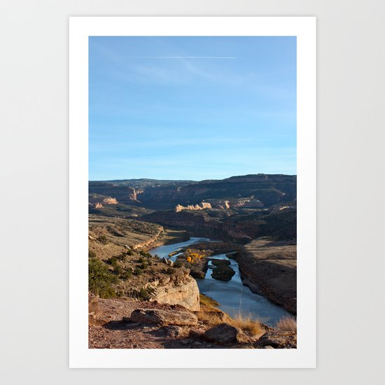 Colorado River From the Bicycle 2 Art Print