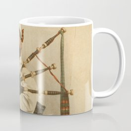 Vintage Illustration of a Scottish Bagpiper (1898) Coffee Mug