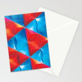 Space Triangles Stationery Cards