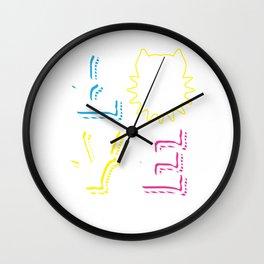 Love Pit Bull Dog Wall Clock