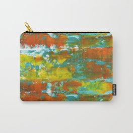 Palette Knife Daubs Orange & Blue Carry-All Pouch