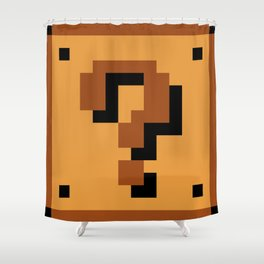 Question Block Shower Curtain