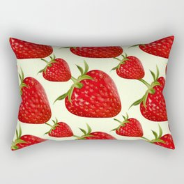 RED STRAWBERRIES PATTERN ART Rectangular Pillow