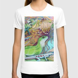 A Tangle Of Lizards, Lizard Art T-shirt