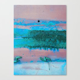 Rusted Middle Mauve and Turquoise Canvas Print