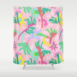 Australian Kangaroo Paw Floral in Pink Shower Curtain